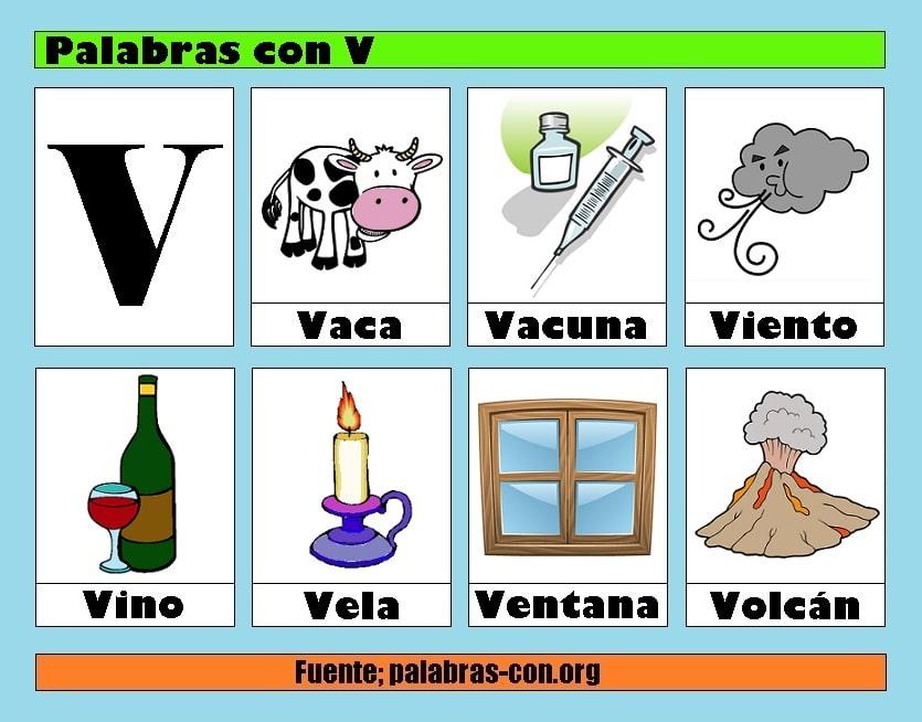 palabras con v